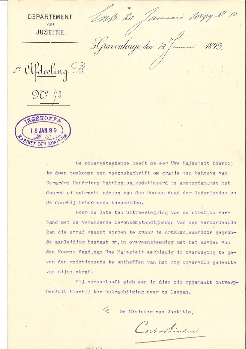 De eerste getypte brief